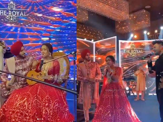 neha kakkar and rohanpreet perform live at their wedding and get romantic watch viral videos