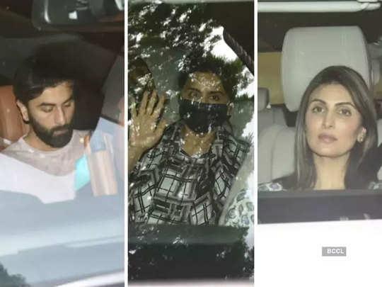 ranbir kapoor and neetu kapoor arrive at alia bhatt residence for soni razdan birthday celebration
