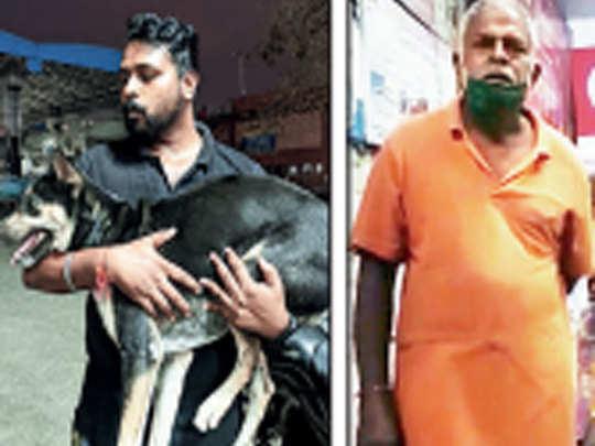 पशु अधिकार कार्यकर्ता ने आरोपी को दबोचा
