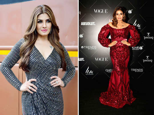 birthday girl raveena tandon shows us what it means to look glamorous in 40s