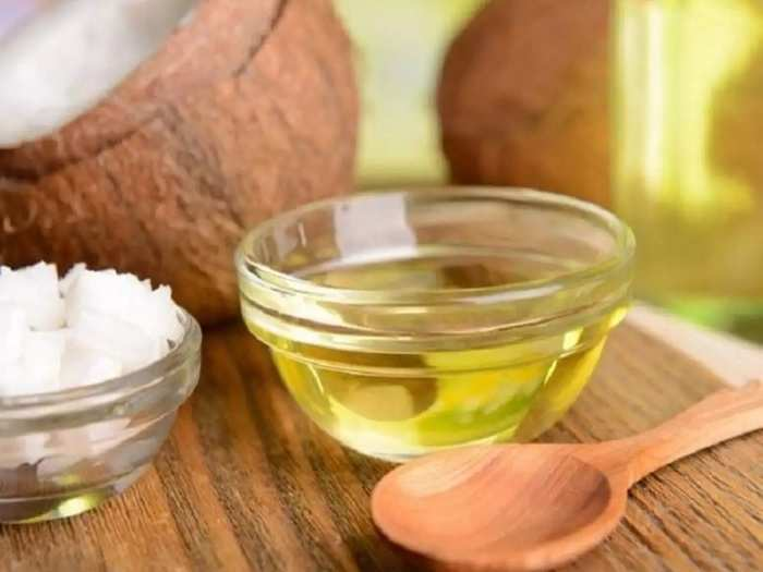 benefits of coconut virgin oil in preventing constipation or all stomach problem in marathi