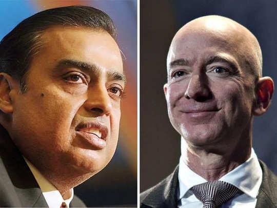 mukesh ambani and jeff bezos face off over reliance- future group deal