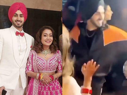 video newly married neha kakkar grand welcome on dhol in her sasural dances with beau rohanpreet