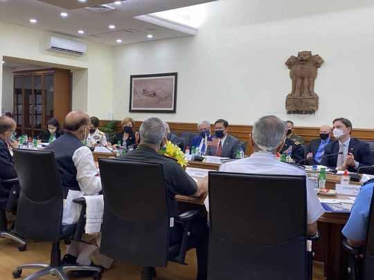 india united states 2 plus 2 dialogue beca mike pompeo s jaishankar mark esper and rajnath singh