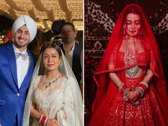 dulhan neha kakkar wedding lehenga and their details