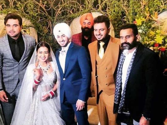 neha kakkar rohanpreet wedding reception: inside photos videos neha rohanpreet wedding reception