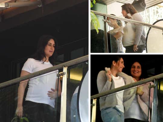 kareena kapoor khan and karisma kapoor snapped at their home balcony for a photo shoot
