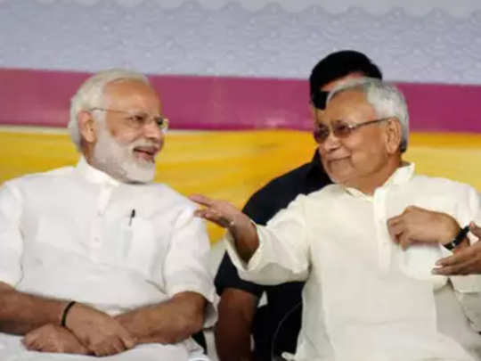 PM Modi with Nitish Kumar File photo