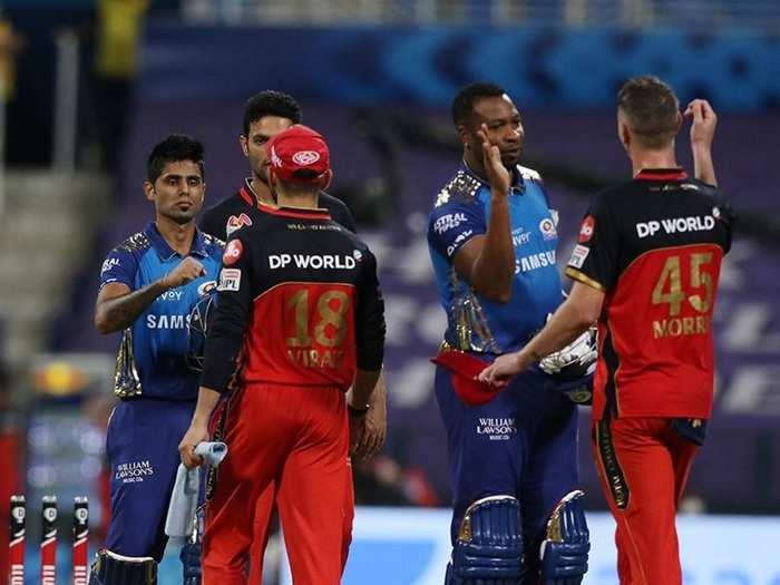 MI beat RCB by 5 wickets ipl 2020