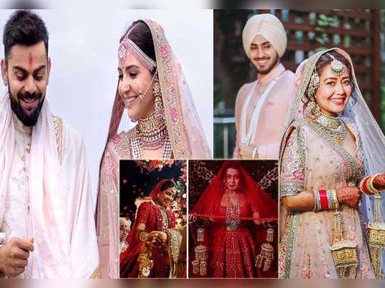 neha kakkar gets trolled for copying anushka sharma priyanka chopra and deepika padukone wedding looks
