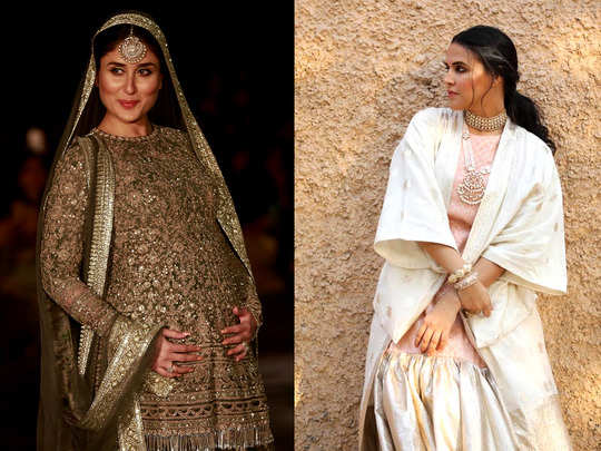 kareena kapoor neha dhupia inspired style suggestions for pregnant women for wedding functions or festive season