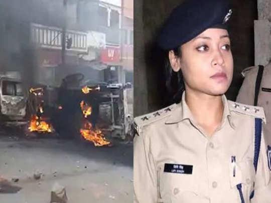 मुंगेर गोळीबार : गर्दीचा पोलीस स्टेशनजवळ धिंगाणा, गाड्या पेटवल्या