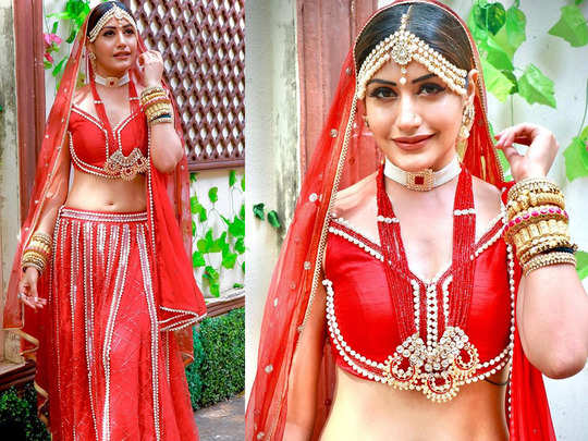 surbhi chandna decks up as beautiful bride for her wedding in naaagin 5 watch bold and stunning photos