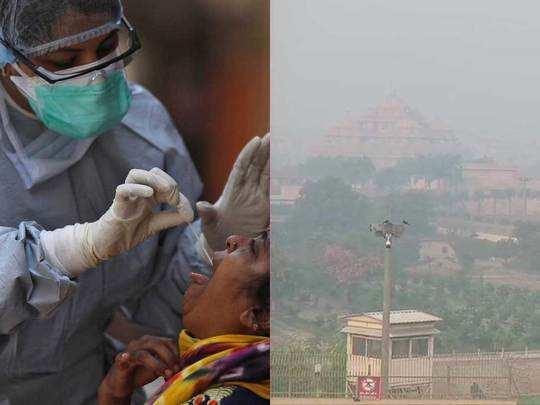 corona and pollution in delhi