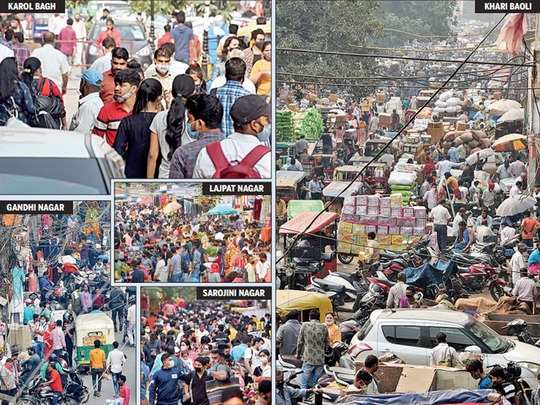 careless delhi amid coronas u-turn, these pictures are frightening
