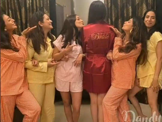 kajal aggarwal wedding ceremonies bachelorette pyjama party photos leaked