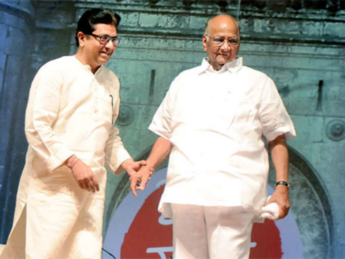 Raj Thackeray-Sharad Pawar (संग्रहित फोटो)