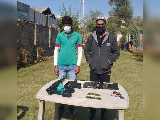 जम्मू-कश्मीर में हथियारों समेत पकड़े गए 2 आतंकी संगठनों के 3 मददगार