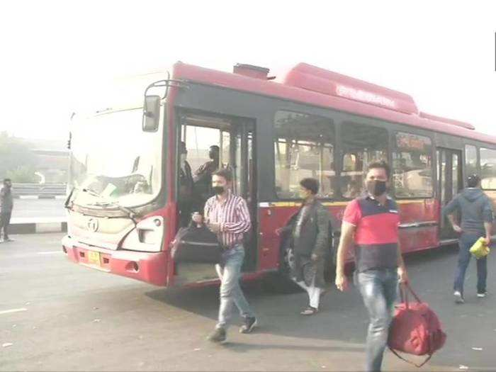 delhi public bus service resumes with full seating capacity