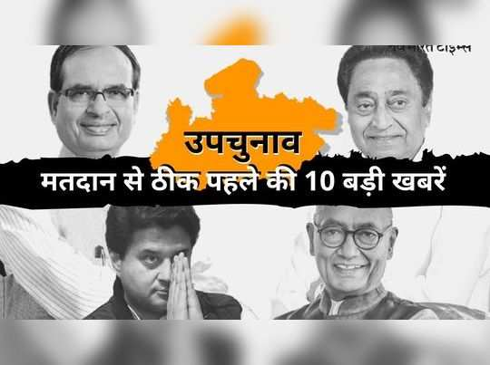 top ten news from madhya pradesh just before by election voting for 28 assembly seats today live