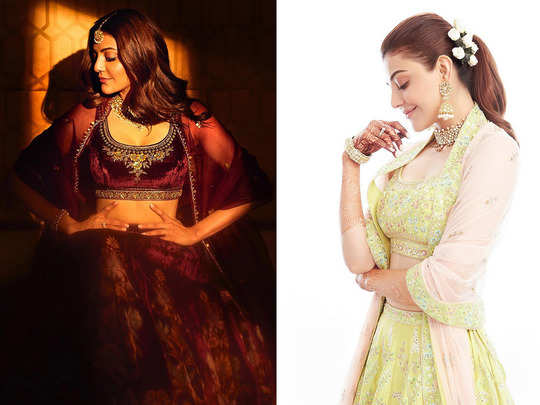 newly married kajal aggarwal anita dongre lehenga to other 5 traditional clothes for beautiful and elegant look on karwa chauth 2020