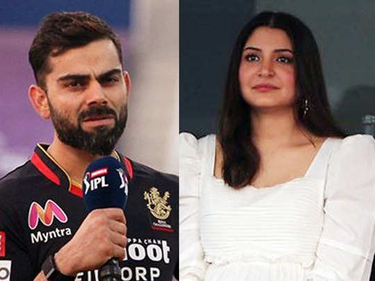 anushka sharma in abu dhabi during ipl 2020 match rcb vs dc fans says no negative comment during pregnancy