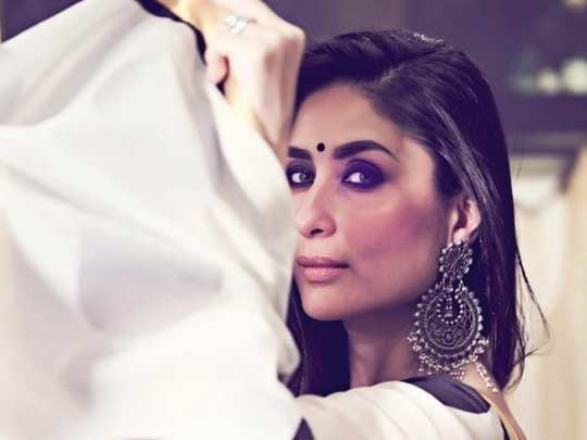 bollywood actress kareena kapoor khan stylish white maxi dress look in marathi