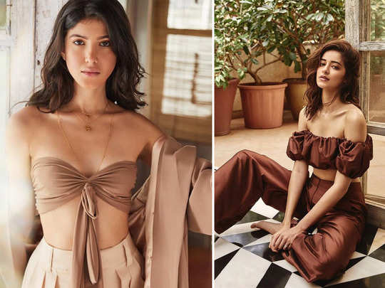 ananya panday friend shanaya kapoor latest photo in cut out dress and off shoulder bold top are glamorous