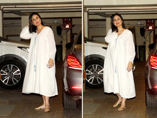 kareena kapoor spotted in pink co ord set and white maxi dress on karwa chauth day