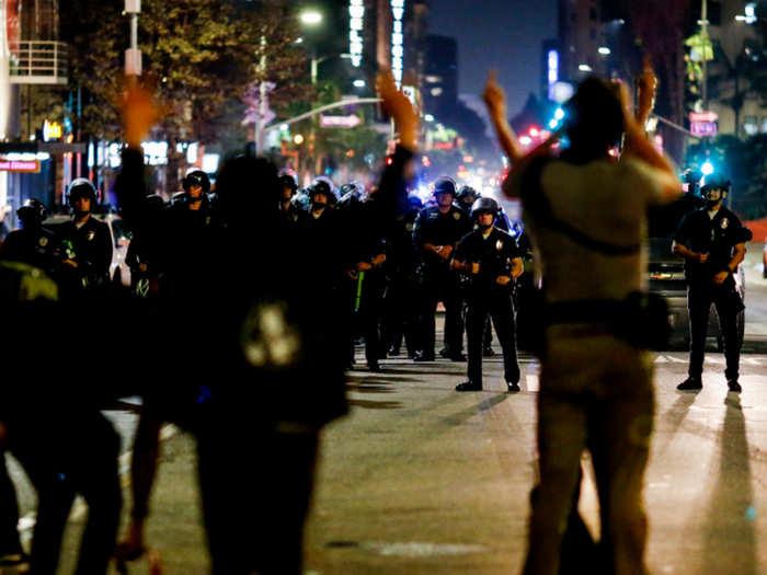 अमेरिका में विरोध प्रदर्शन