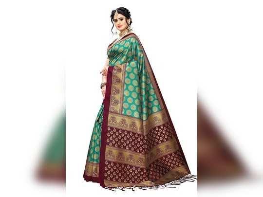 Anni Designer Womens Rama Color Banarasi Silk Saree