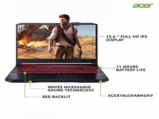 Acer Nitro 5 Intel Core i5-9th Gen 15.6-inch Display 1920 x 1080 Thin and Light Gaming Laptop (8GB Ram+16GB Optane/1TB HDD/Windows 10 Home/GTX 1650 Graphics/Obsidian Black/2.3 Kgs), AN515-54