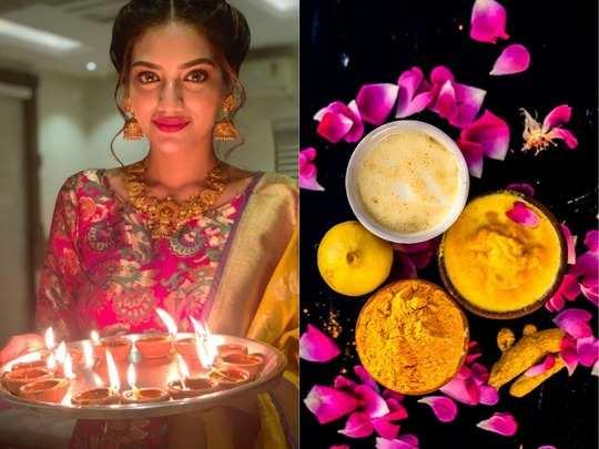 diwali 2020 how to make 4 skin whitening diwali ubtan recipes step by step at home in hindi