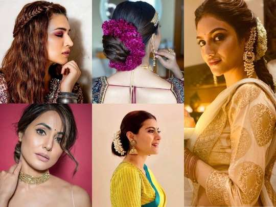 Image result for Basant Panchami look hairstyle