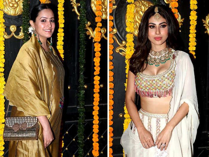 anita hassanandani mouni roy and karishma tanna steals the limelight at ekta kapoor diwali bash hina khan look disappoints