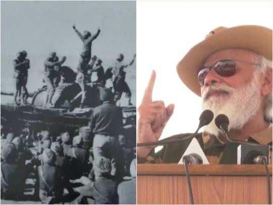 battle of longewala history in hindi: pm narendra modi celebrates diwali with soldiers of indian army