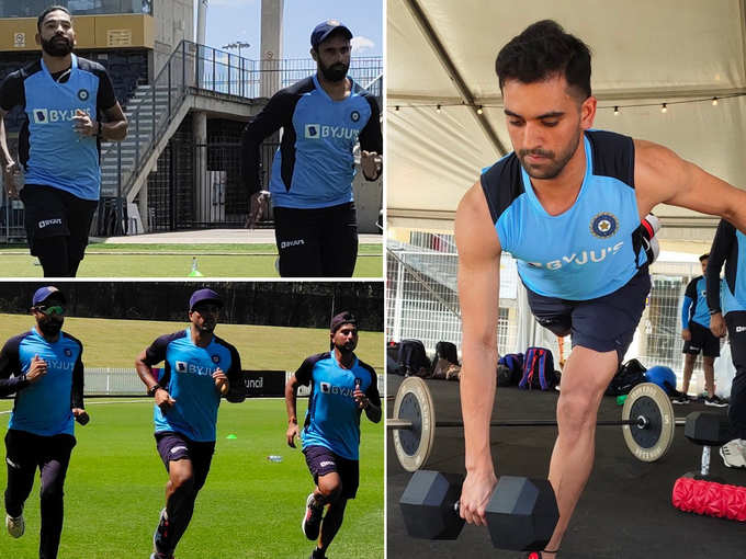 टीम इंडिया ने अभ्यास शुरू किया