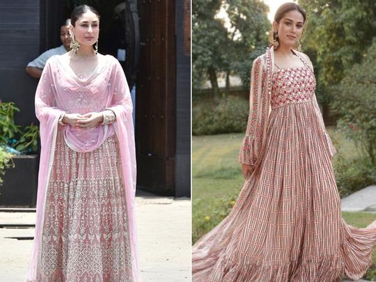 kareena kapoor khan in yellow skirt and blouse mira rajput in kurta fashion faceoff