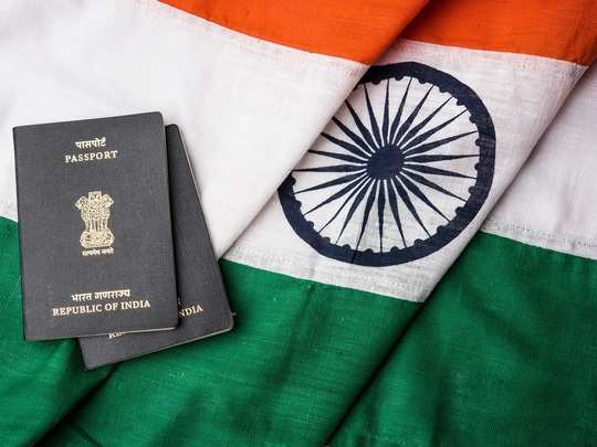 Indian passport and tricolour.