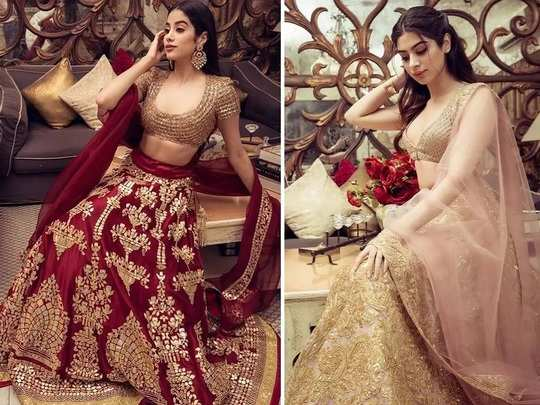 janhvi kapoor and khushi kapoor wore manish malhotra traditional collection outfit for diwali in marathi