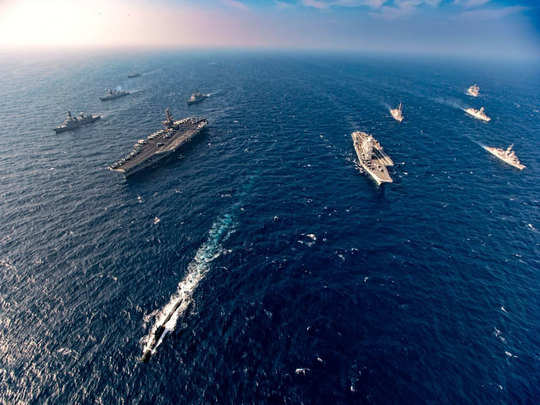 second phase of malabar exercise starts in arabian sea uss nimitz participate