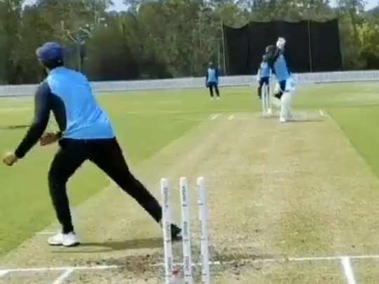 indian cricket team practice in australia ahead of series virat kohli shared video