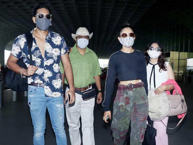मालदीव छुट्टी मनाने निकलीं रकुल प्रीत सिंह का एयरपोर्ट पर नजर आया कूल स्टाइल
