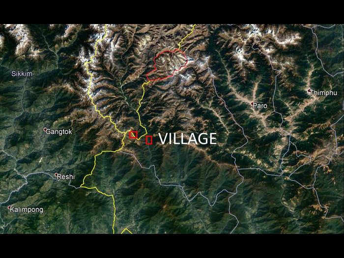 china established village inside bhutan border in doklam