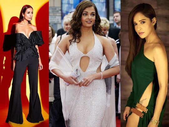 aishwarya rai bachchan to malaika arora and tara sutaria actresses risky dresses