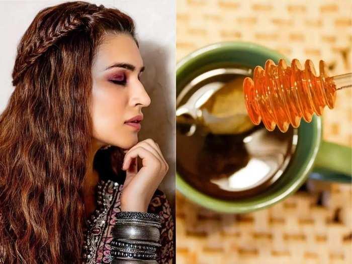 natural homemade honey hair packs for winter hair care in marathi