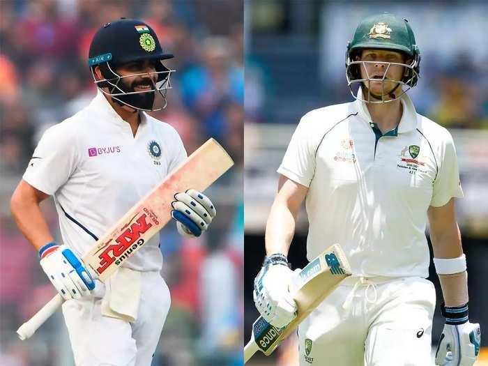 virat Kohli and steve smith Test IND vs AUS