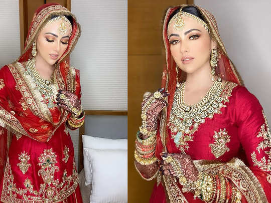 former actress and bigg boss fame sana khan shares pics from her walima after nikaah with mufti anas sayied