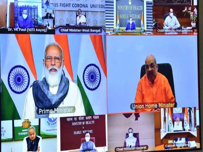 पंतप्रधान मोदींनी बैठकीत मुख्यमंत्र्यांना मध्येच टोकले, म्हणाले...