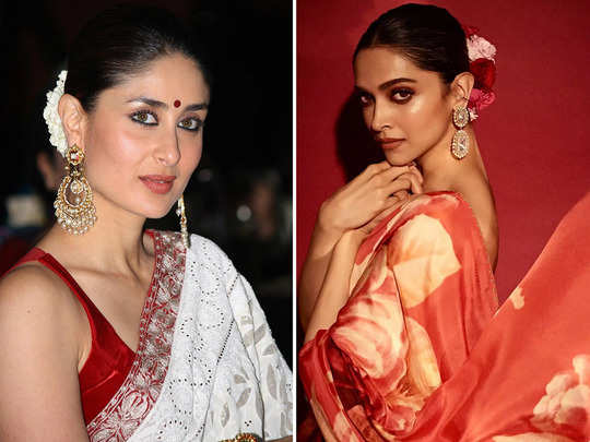 when deepika padukone saree reminded people of kareena kapoor saree designed by manish malhotra